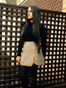 Tweed pelmet skirt